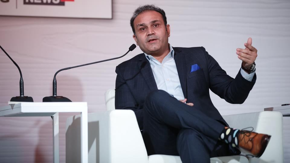 Former cricketer Virender Sehwag during the Hindustan Times Mint-Asia Leadership Summit, in Singapore.