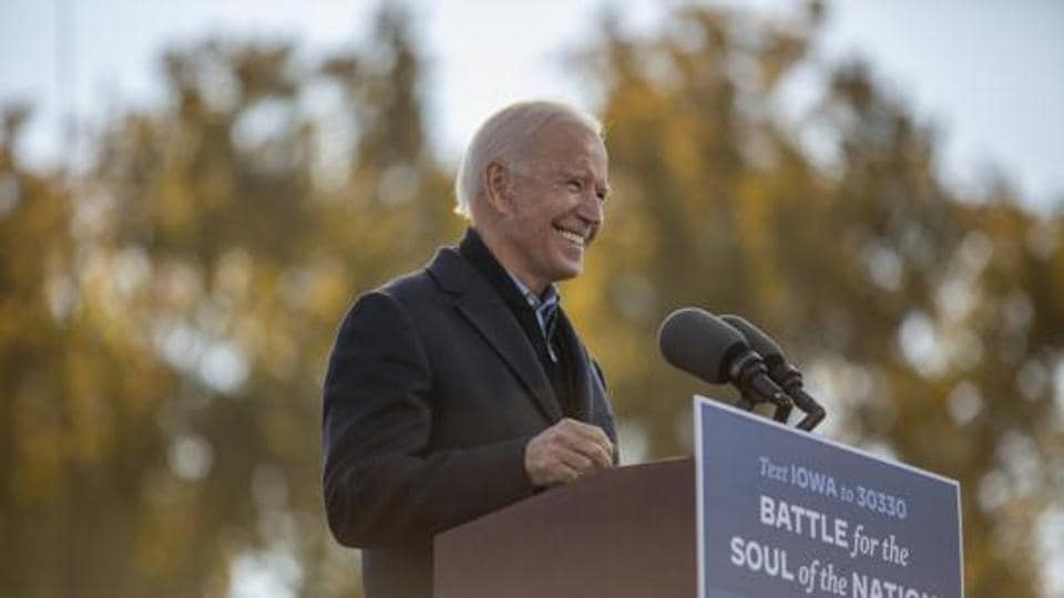 Joe Biden said he was quite confident this time that Americans would vote Trump out of power.