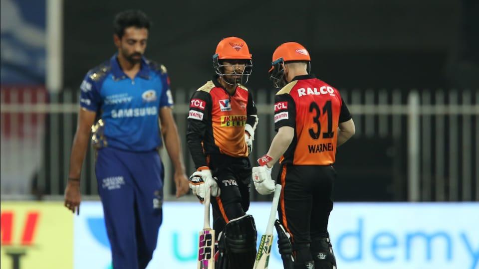SRH vs MI Highlights, IPL 2020 Latest Match updates: Warner, Saha take Sunrisers through to playoffs
