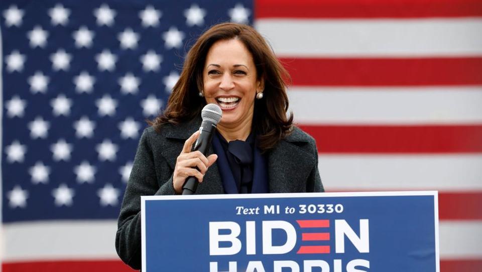 US Vice President-elect Kamala Harris (Photo by JEFF KOWALSKY / AFP)