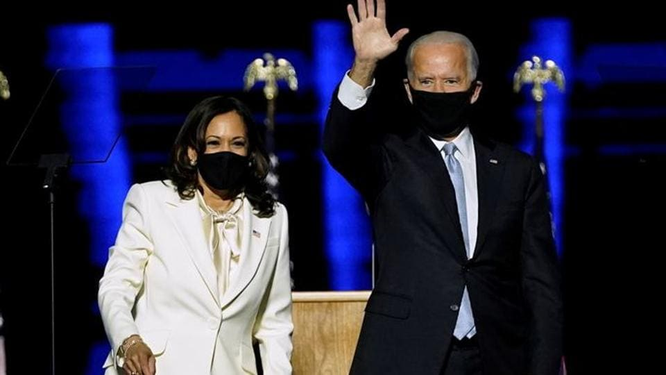 Celebs have welcomed the win of Joe Biden and Kamala Harris.