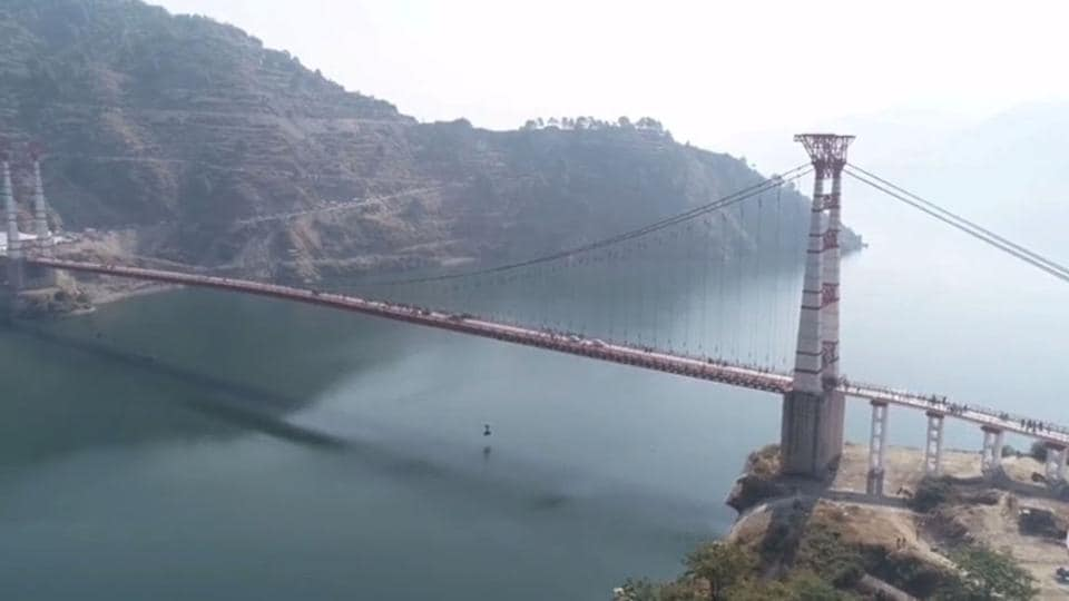 The Dobra-Chanti suspension bridge took 14 years to build and cost almost Rs 3 crore.