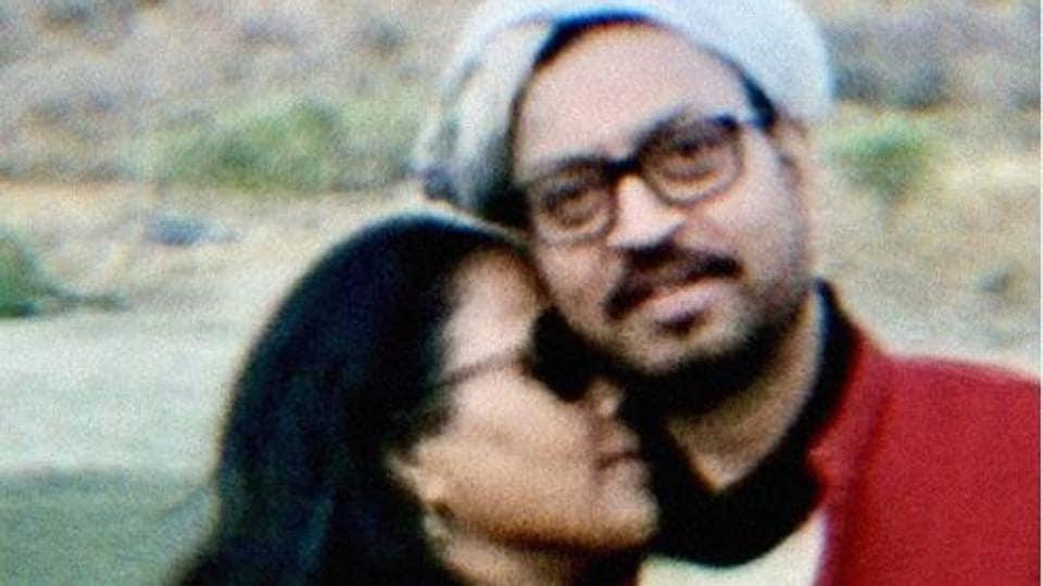 Irrfan Khan with his wife, Sutapa Sikdar