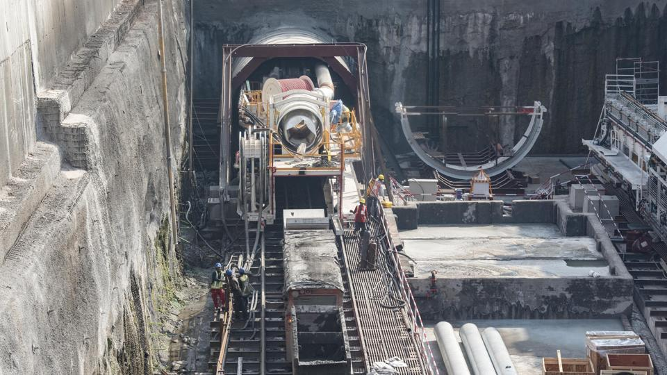 Tunneling of Pune Metro project at Agriculture college in Pune.