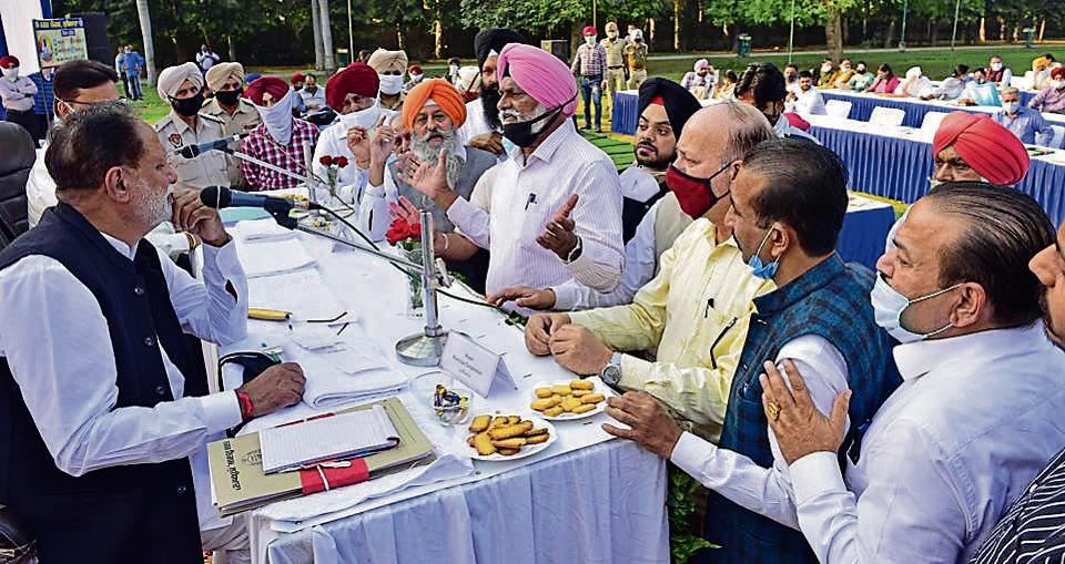 The House meet underway at Rose Garden in Ludhiana, on Monday.