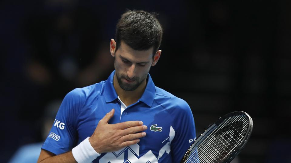 Novak Djokovic beats Schwartzman 6-3, 6-2 at ATP Finals