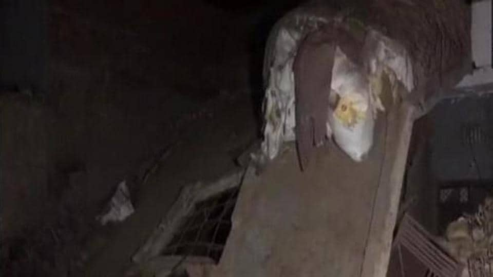 A building collapsed after a cylinder explosion in the Falawada area of the district.