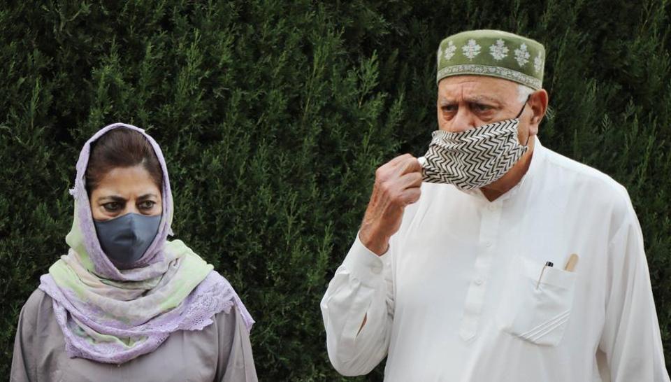 PAGDmembers Farooq Abdullah and Mehbooba Mufti.