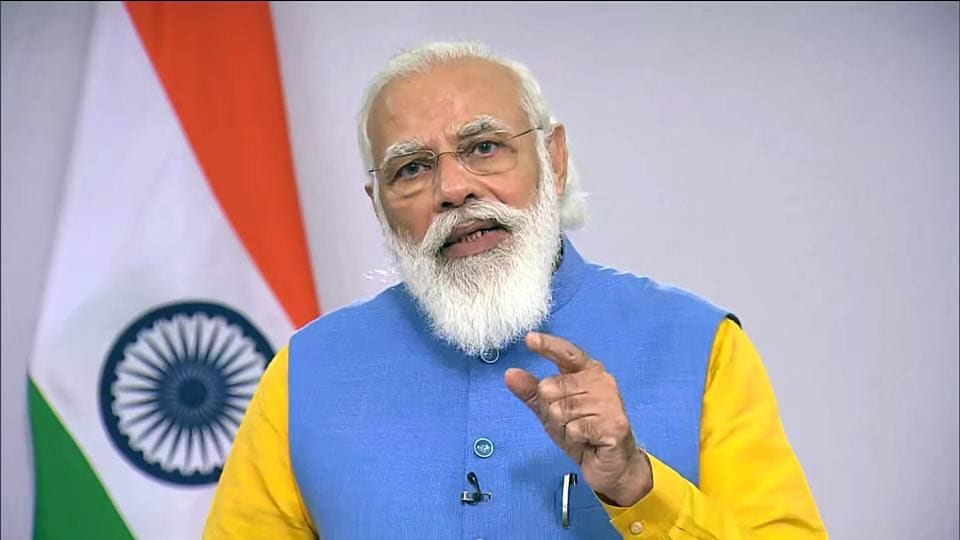 In his virtual address, Modi said India is an ideal investment destination.