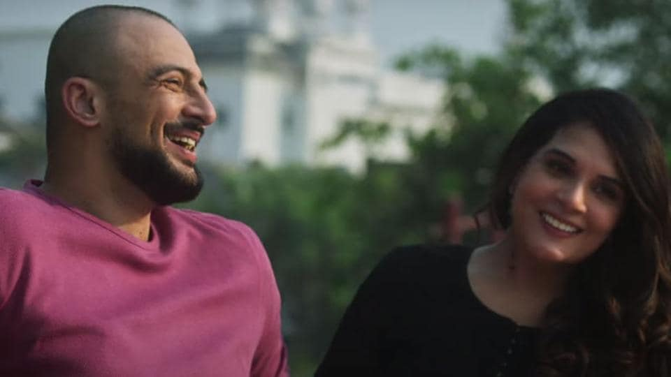 Arunoday Singh and Richa Chadha in a still from Lahore Confidential trailer.