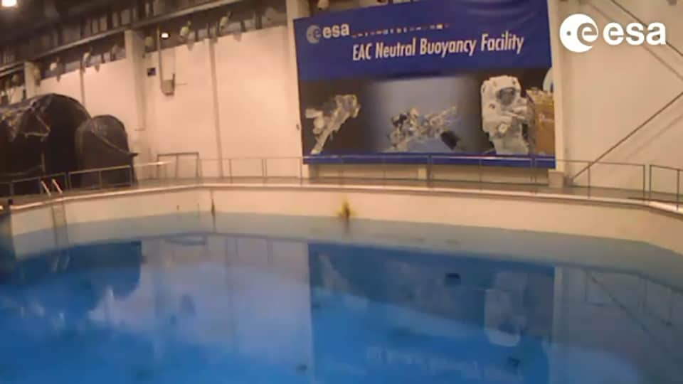 ESA took to Instagram to share the video.