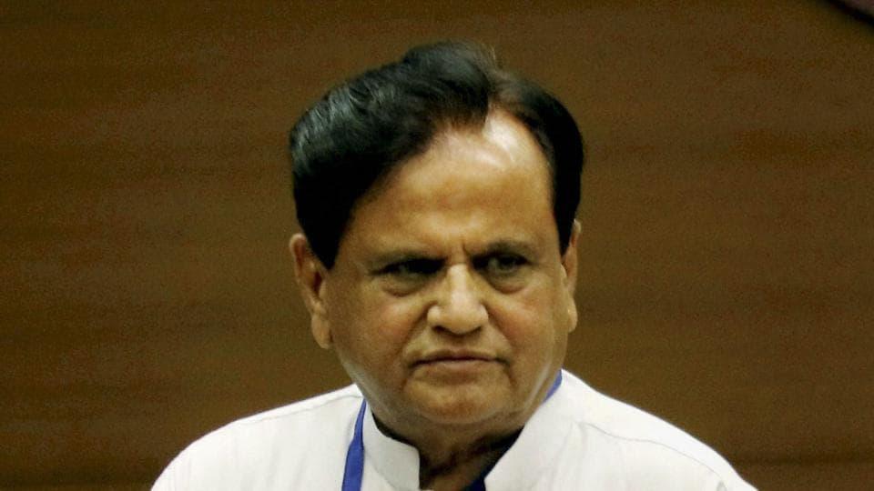 Congress leader Ahmed Patel.
