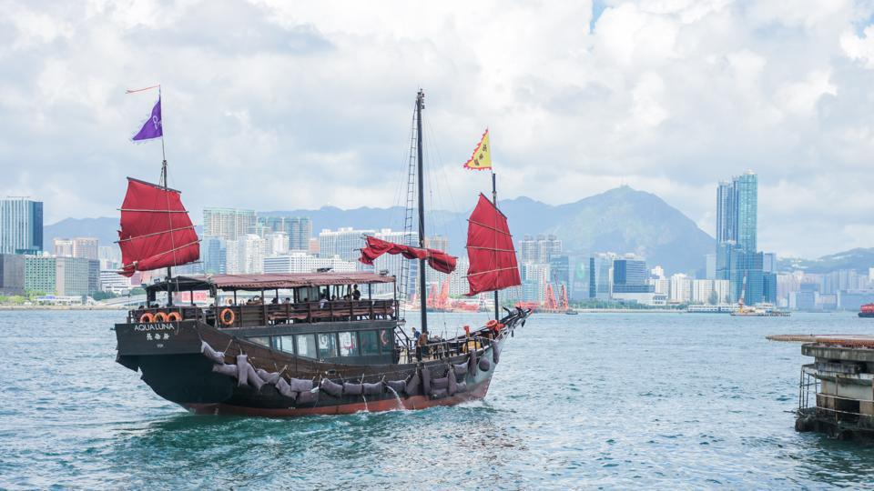 About 56 million people visited Hong Kong last year.