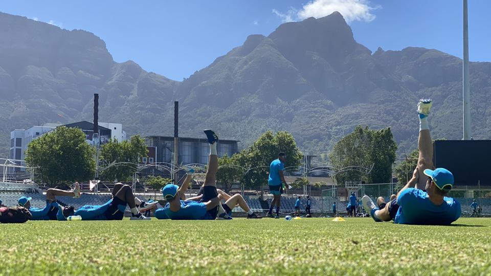 South Africa players during their training on Thursday