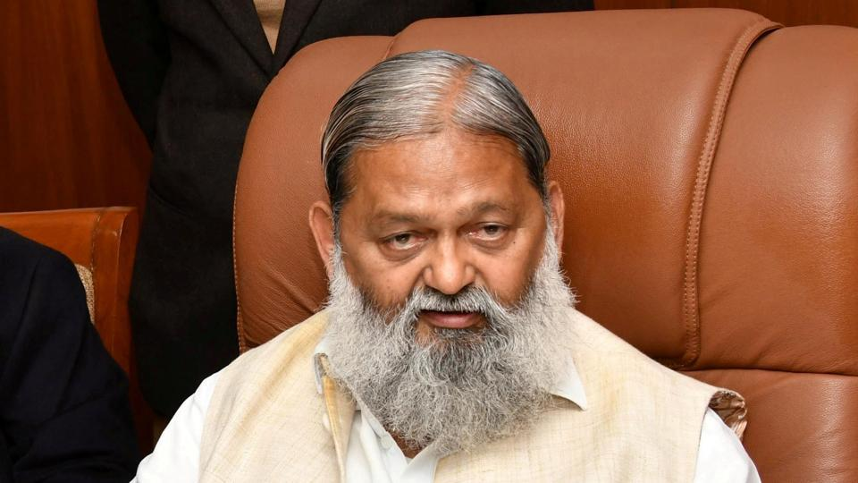 Anil Vij, Haryana health minister