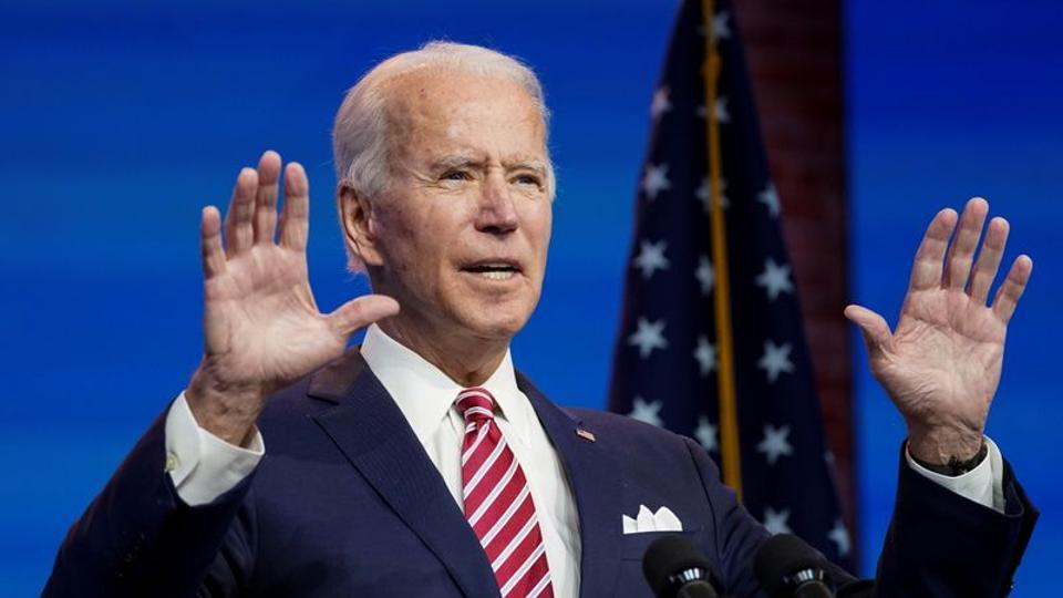US president-elect Joe Biden speaks about the economy following a briefing with economic advisers in Wilmington, Delaware in this file photo.