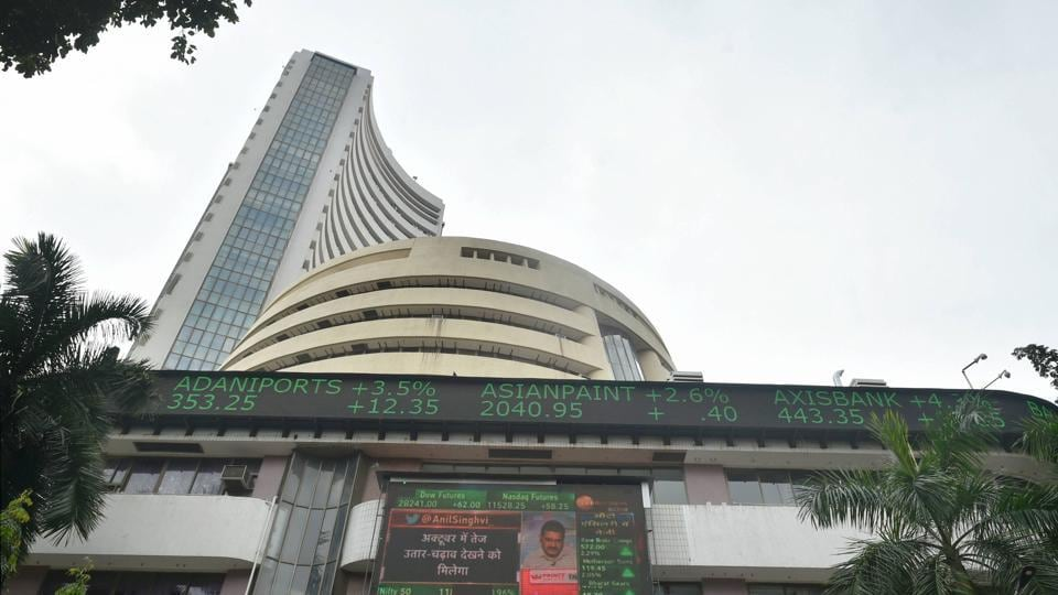 Mumbai: A screen on the facade of BSE building displays stock prices as the Sensex crossed 40000 mark, in Mumbai, Thursday, Oct. 8, 2020. (PTI Photo/Mitesh Bhuvad)(PTI08-10-2020_000105B)