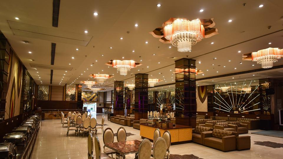 A view inside Green Lounge banquet hall, as business remains affected due to Covid-19, at Wazirpur in New Delhi.