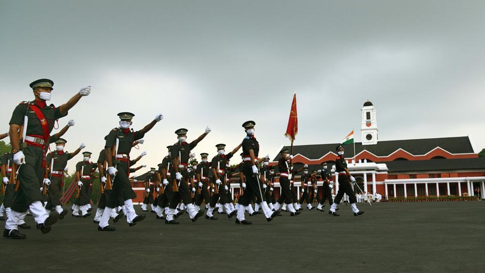 The passing out parade at Indian Military Academic (IMA) in Dehradun in June .