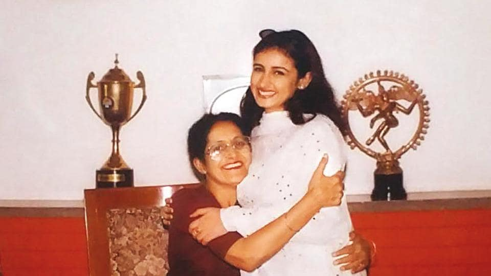 Divya Dutta being given a warm welcome by the principal when she first visited her college, Govt. College for Girls, Ludhiana, after joining films