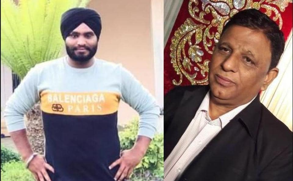 (Left) Gangster Sukhpreet Singh, alias Sukha Gill Lamme, who has claimed responsibility for the murder of Dera Sacha Sauda follower and foreign exchange dealer Manohar Lal Arora (right) at Bhagta Bhaika near Bathinda on Friday evening.