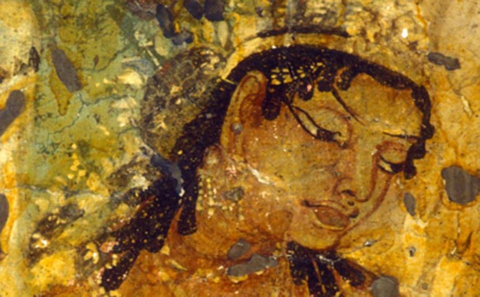 Benoy K Behl's photograph of the Ajanta painting of King Mahajanaka was taken in 1992. As the art fades within the caves, it is likely no one else will capture what he did. His image is now one of those preserved digitally at the AWA.