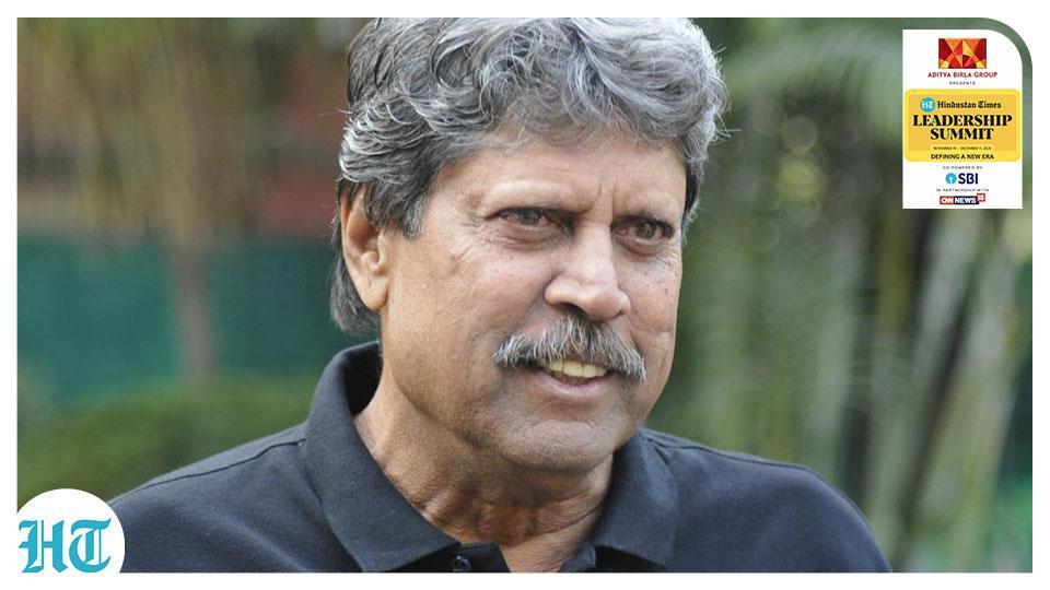 Former India cricket captain Kapil Dev