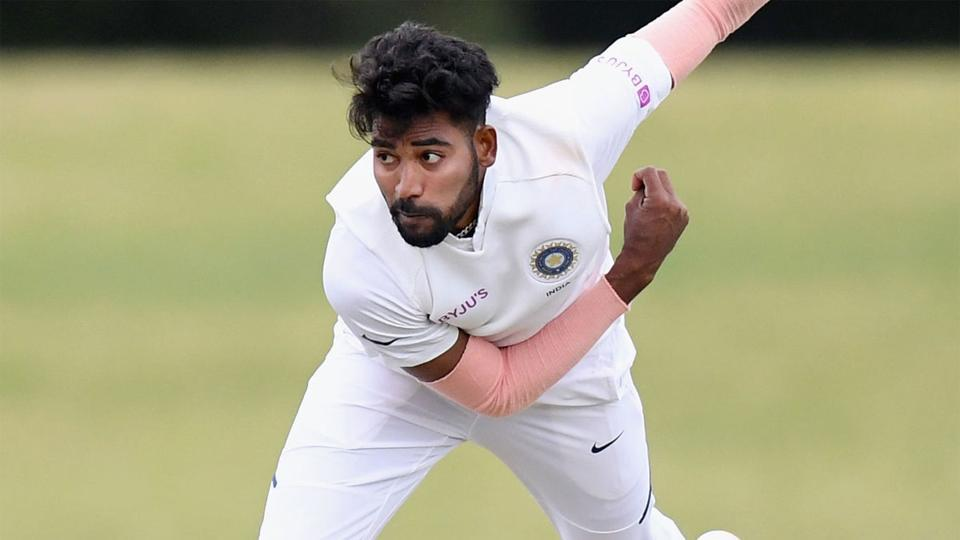 Mohammed Siraj in action for India A.