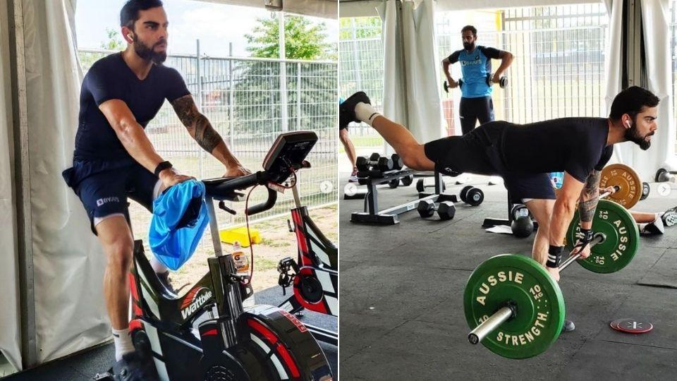 Indian captain Virat Kohli working out at Team India's training session in Australia (Instagram)