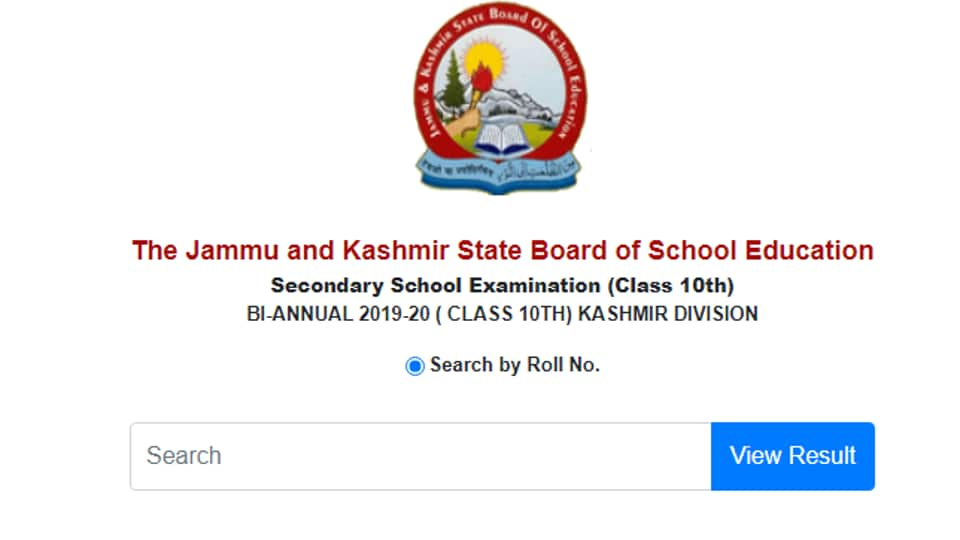 JKBOSE class 10th results for Kashmir division