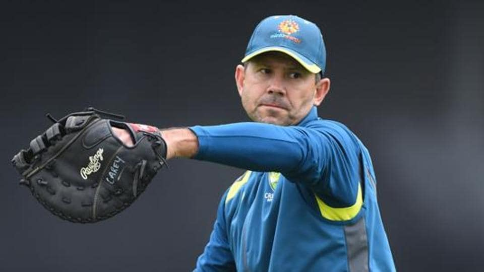 Ricky Ponting coach of Australia takes part during a Australia Nets Session at Trent Bridge.