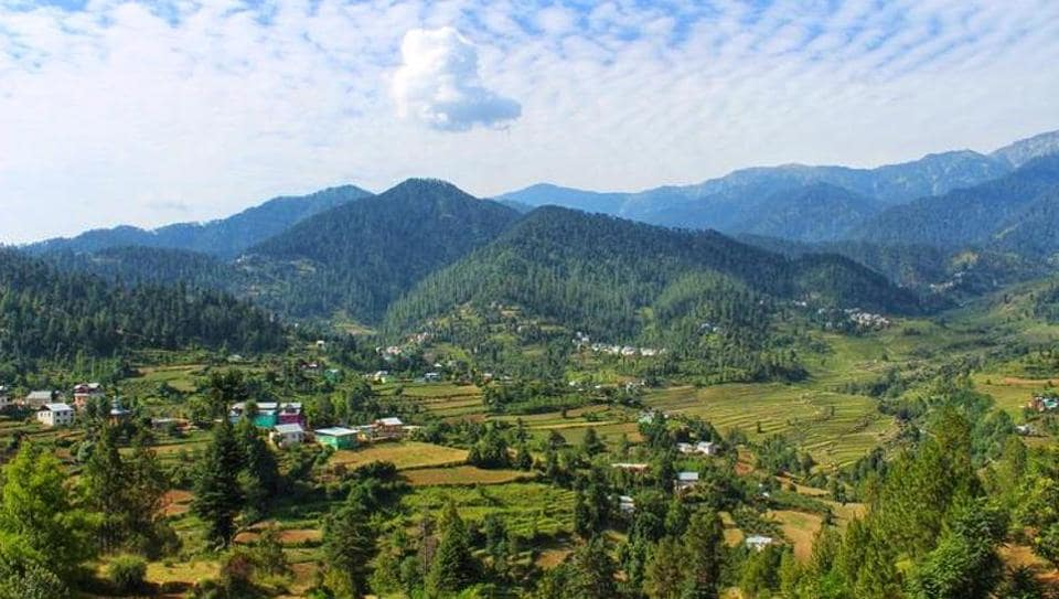 The image shows Bhaderwah.