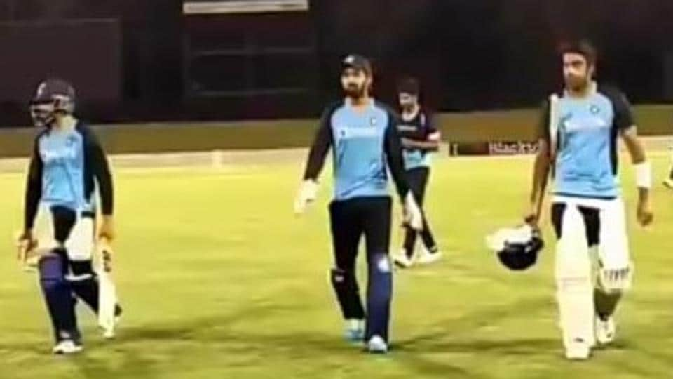 KL Rahul, R Ashwin at India's intra-squad practice game in Sydney