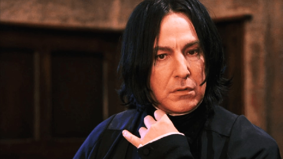 Alan Rickman played the beloved Professor Severus Snape