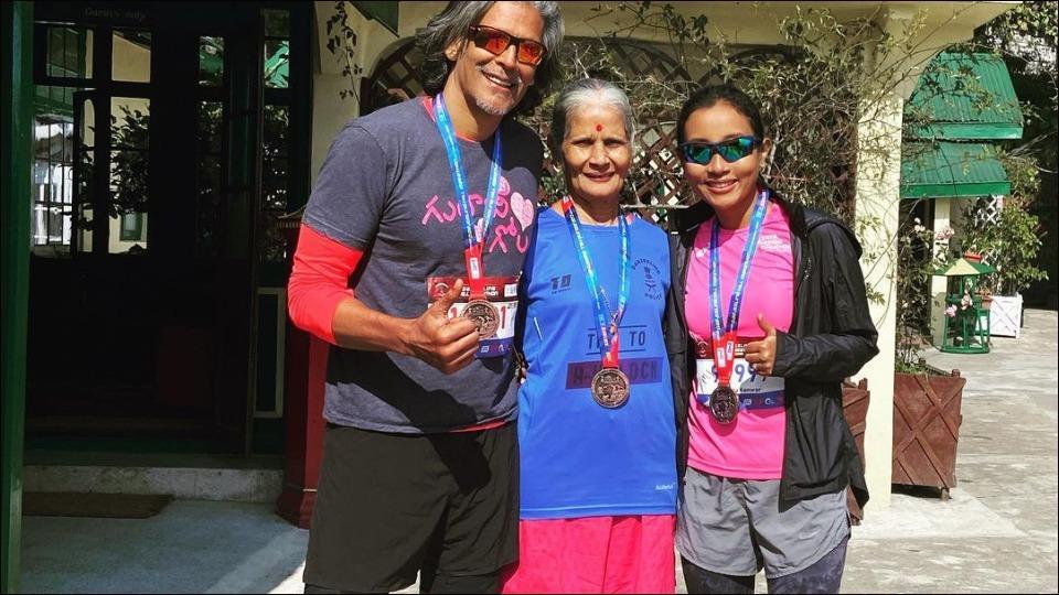 Milind Soman's mother pumps up fans' fitness motivation as we enter a new week
