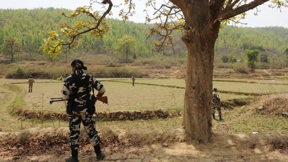 Three Maoists were killed in an encounter with security forces in Bihar's Gaya, officials said.