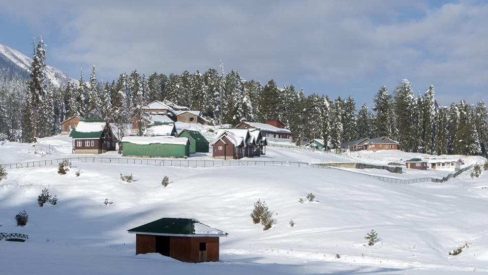 A view of snow-capped Gulmarg on November 19. On November 20, Gulmarg recorded a minimum temperature of -7 degrees Celsius, 5.5 degrees below normal. In Palampur (Himachal Pradesh), the minimum temperature was 3 degrees Celsius, 6.4 degrees below normal, HT reported. (ANI)