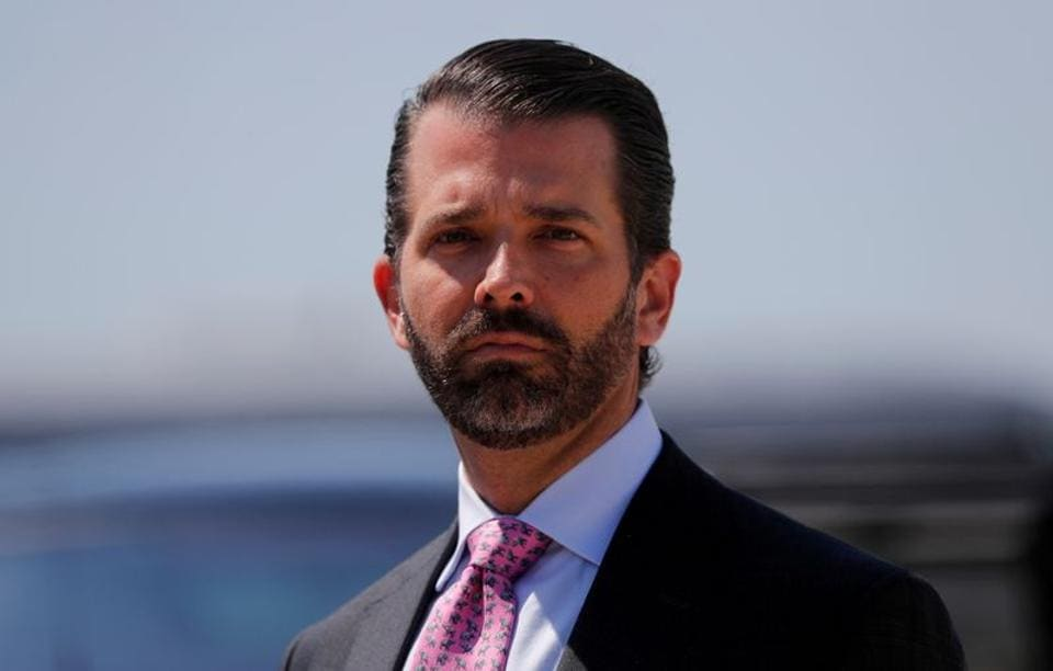 """Donald Trump Jr has been """"quarantining at his cabin since the result,"""" a spokesman said."""