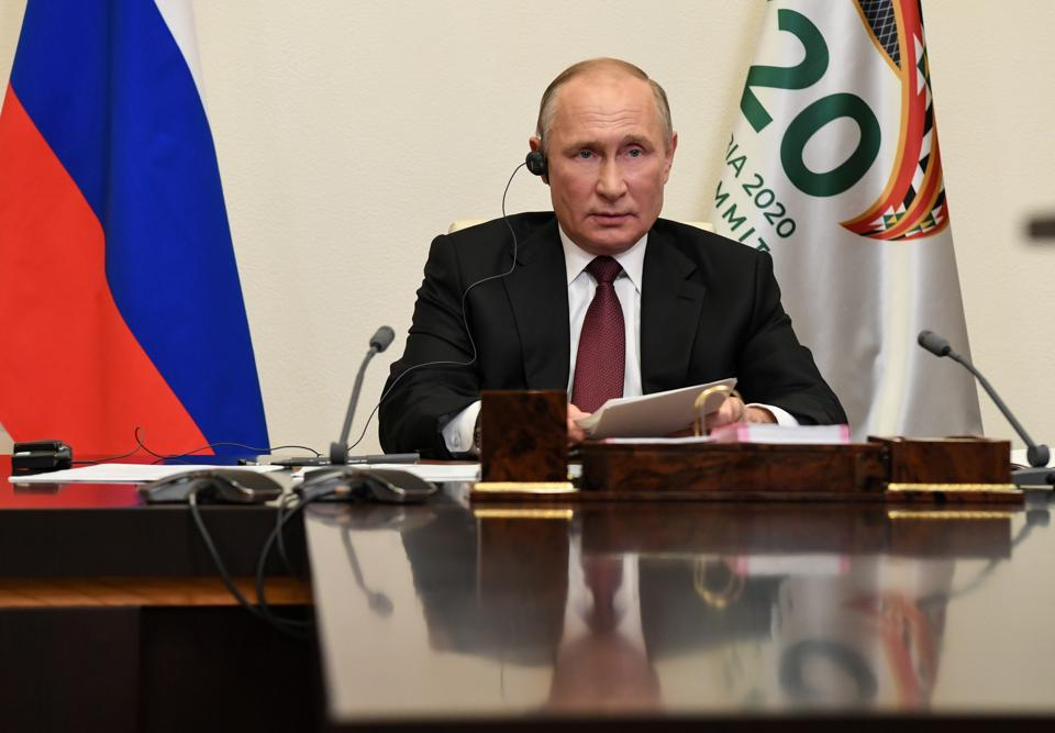 The Russian President called for equal access to Covid-19 vaccines in his address at the G-20 summit.