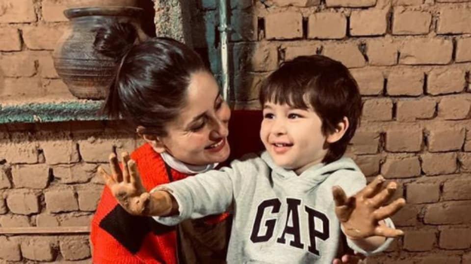 Kareena Kapoor, son Taimur Ali Khan light up as they take to the potter's wheel in Dharamkot, watch