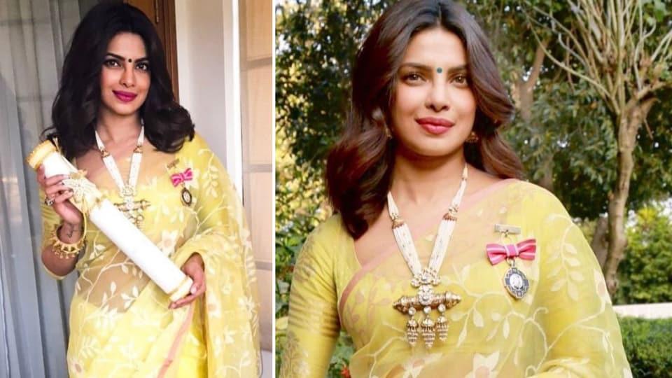 So many incredible memories: Priyanka Chopra Jonas looks radiant in sunshine yellow saree in nostalgic post about Padma Shri win