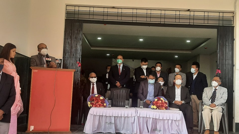 Manipur Chief Minister N Biren Singh inaugurated a 100-bedded 'dedicated Covid block' at the state run Jawaharlal Nehru Institute of Medical Sciences (JNIMS) in Imphal.