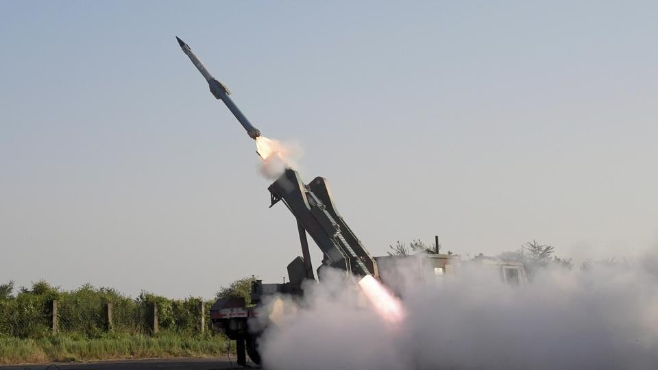 The trials of the DRDO-developed nuclear-capable surface to surface Prithvi-2 missiles were successful. In this photo a Quick Reaction Surface to Air Missile (QRSAM)  missile launch is taking place at ITR Chandipur, Odisha.
