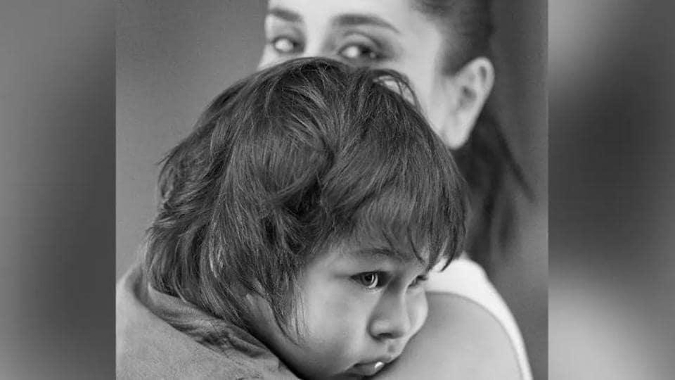Kareena Kapoor Khan poses with her son, Taimur Ali Khan.