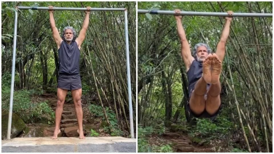 Milind Soman does intense core exercise in new video, fans are impressed