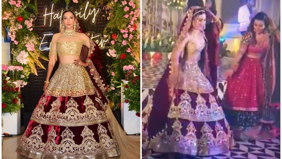 Gauahar Khan burns the dance floor with impromptu performance on Jhalla Wallah at her reception. Wa... - Hindustan Times