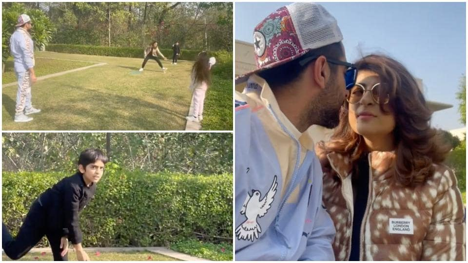 Ayushmann Khurrana is spending sunny winter days with kisses from wife Tahira Kashyap, plays cricket with his kids. Watch – bollywood – Hindustan Times