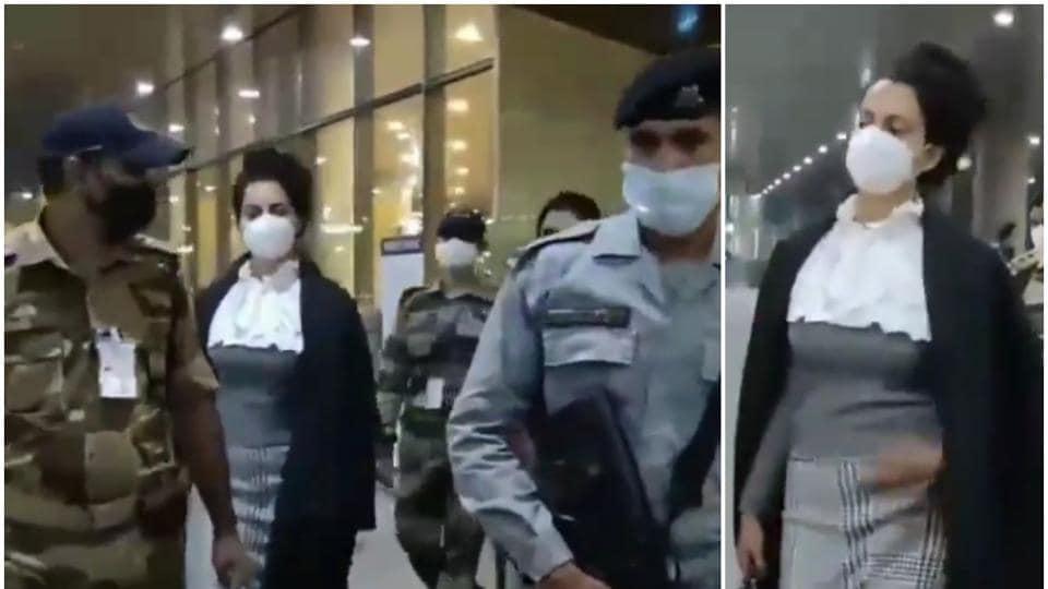 कंगना रनौत पूरी सुरक्षा के साथ मुंबई लौटीं, अभिनेता और बहन रंगोली कोविद -19 दिशा-निर्देशों का पालन करते हैं, देखो – बॉलीवुड