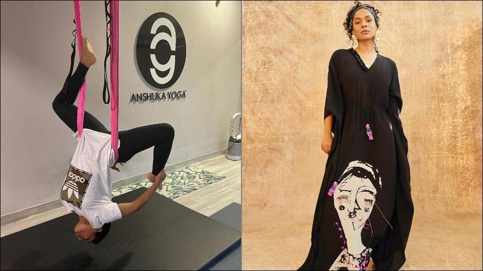 Masaba Gupta tries aerial Yoga for the first time to cure back injury and not be 'nazuk', here are its benefits