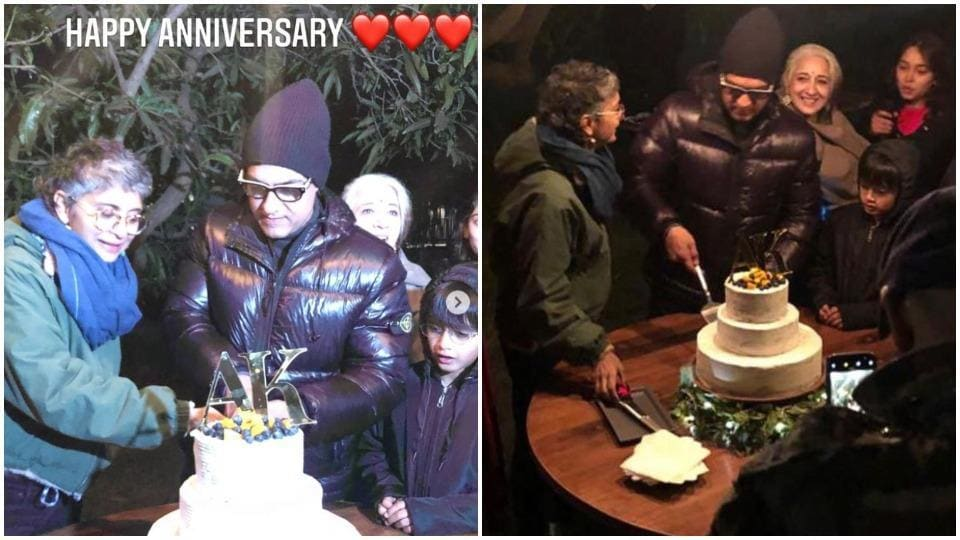 Inside Aamir Khan's anniversary celebration with Kiran Rao: He sings wife a romantic song, cuts cake... - Hindustan Times